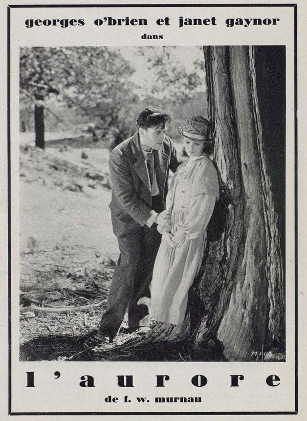 Publicité pour L'Aurore de F.W. Murnau (Cinégraphie, janvier 1928)