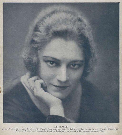 Eve Francis dans El Dorado de Marcel L'Herbier (Cinéa 04.11.1921)