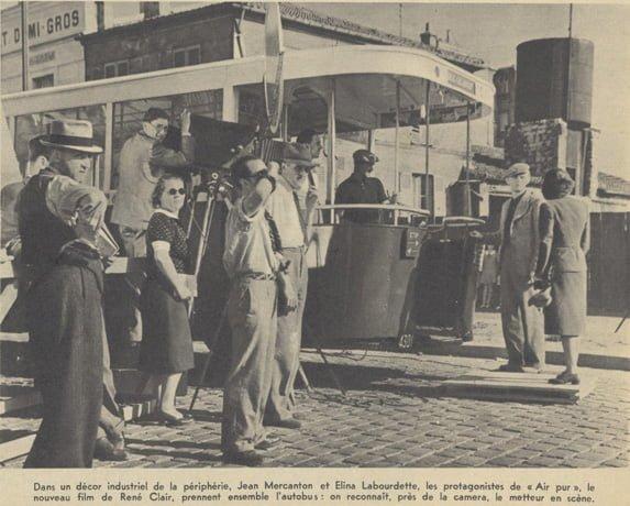 """Tournage de """"Air Pur"""" de René Clair (Pour Vous 06.09.1939)"""