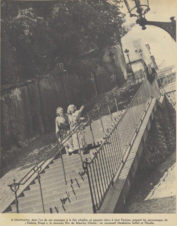 """Tournage de """"Sixième étage"""" de Maurice Cloche (Pour Vous 06.09.1939)"""