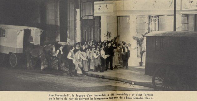 """Tournage de """"Beau Danube Bleu"""" de Emil E. Reinert & Alfred Rode (Pour Vous 06.09.1939)"""