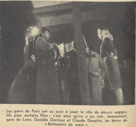"""Tournage de """"Battements de coeur"""" de Henri Decoin (Pour Vous 06.09.1939)"""