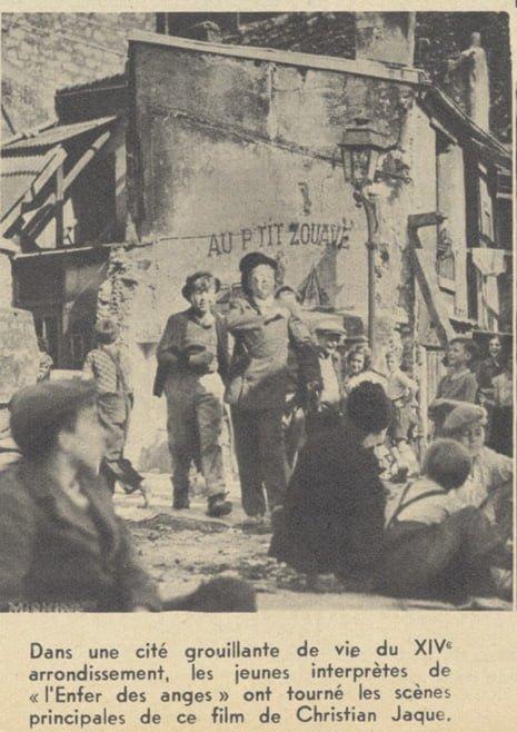 """Tournage de """"L'Enfer des anges"""" de Christian Jaque (Pour Vous 06.09.1939)"""