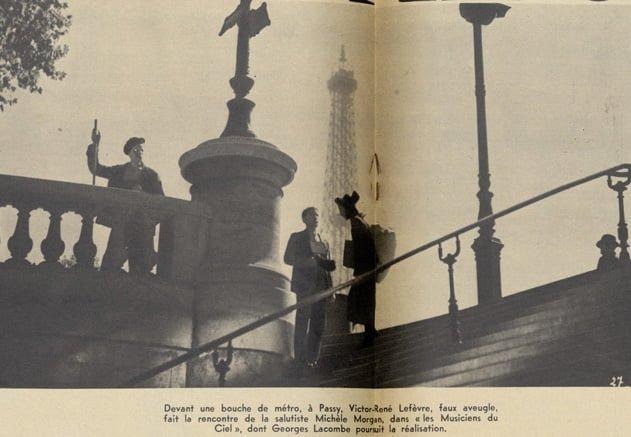 """Tournage de """"Les Musiciens du ciel"""" de Georges Lacombe (Pour Vous 06.09.1939)"""