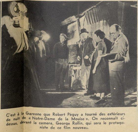 """Tournage de """"Notre-Dame de la Mouise"""" de Robert Péguy (Pour Vous 06.09.1939)"""