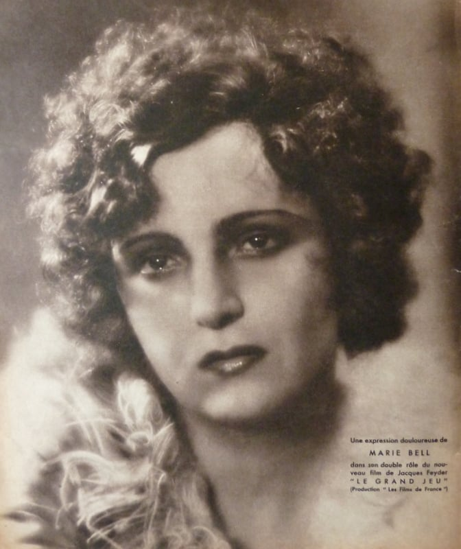 Portait de Marie Bell (Cinémonde 15.02.1934)