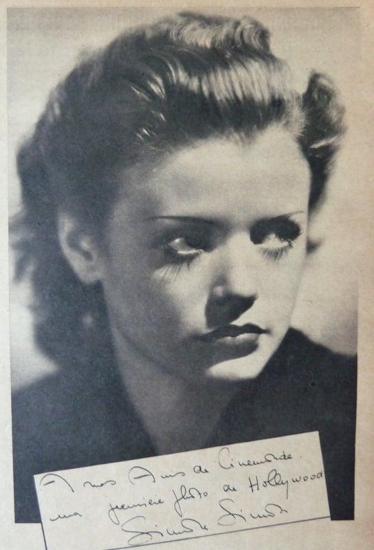 Portrait de Simone Simon (Cinémonde 1935)