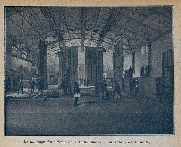 Décor de L'Inhumaine (Cinémagazine 9.11.1923)