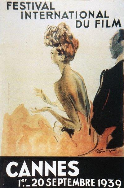 l'affiche du premier Festival de Cannes en 1939 créé par Jean-Gabriel Domergue.