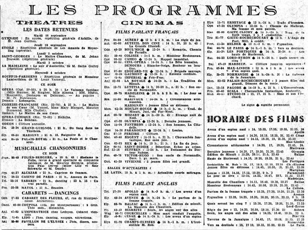 Le Figaro du 2 septembre 1939