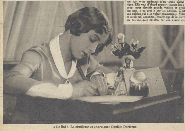 Danielle Darrieux dans Le Bal (Pour Vous 01.10.1931)