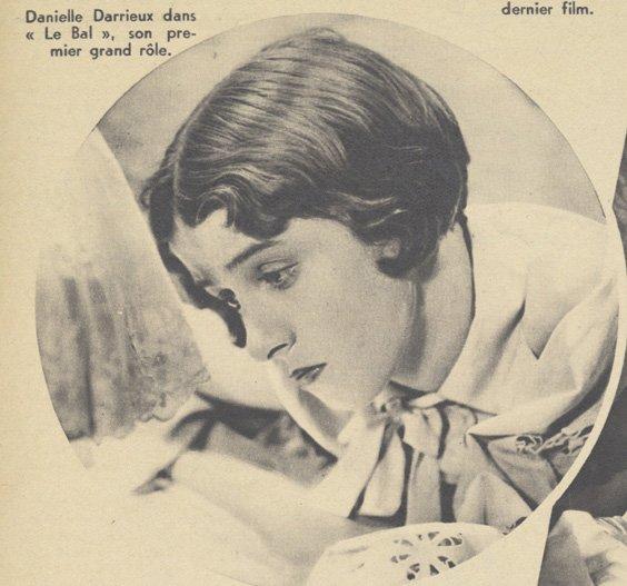 Danielle Darrieux dans Le Bal (Pour Vous 12.08.1937)