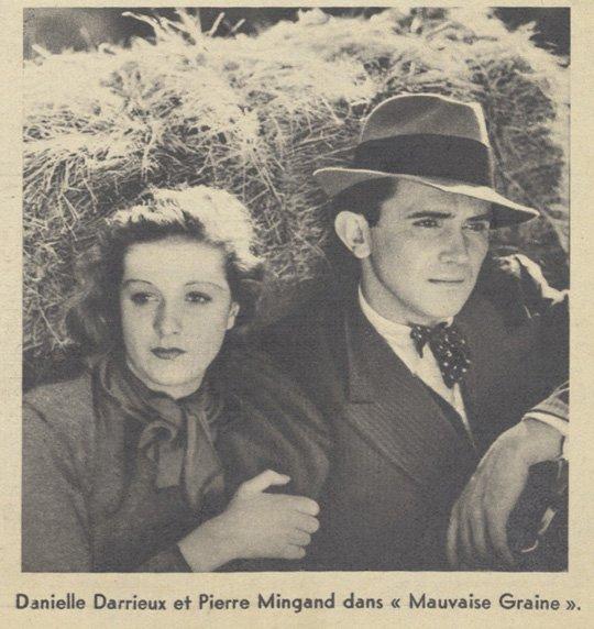 Danielle Darrieux dans Mauvaise Graine (Pour Vous 12.08.1937)