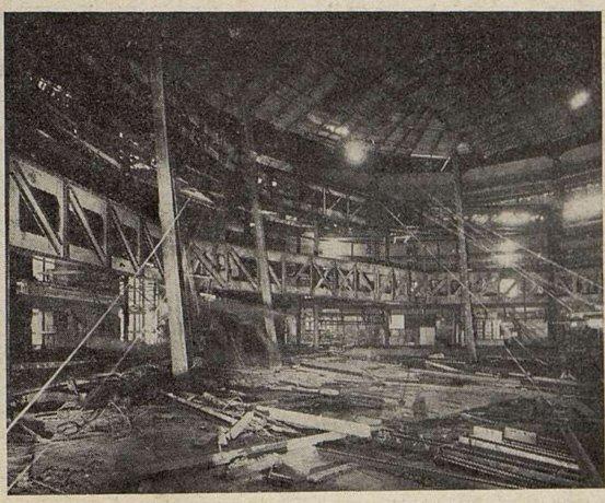 La charpente métallique des gradins (Allemant et Lebrun) du Gaumont-Palace