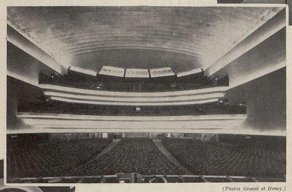 L'ensemble de la salle Gaumont-Palace,vu de la scène