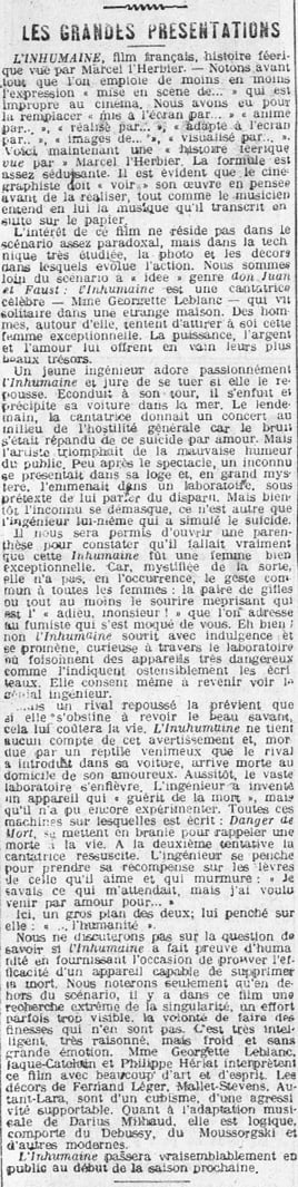 La Presse (26 juillet 1924)