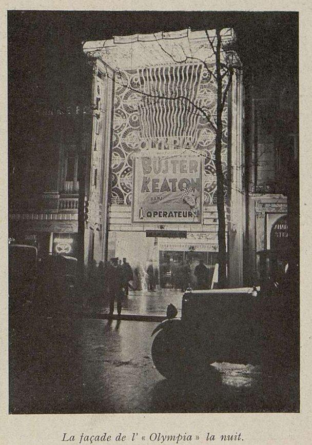 la façade de l'Olympia (Cinémagazine 1930)
