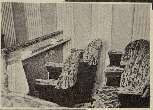 une loge de l'Olympia avec les fauteuils Gallay (Cinémagazine 1930)