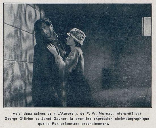 photographie de l'Aurore (Cinémagazine 1928)