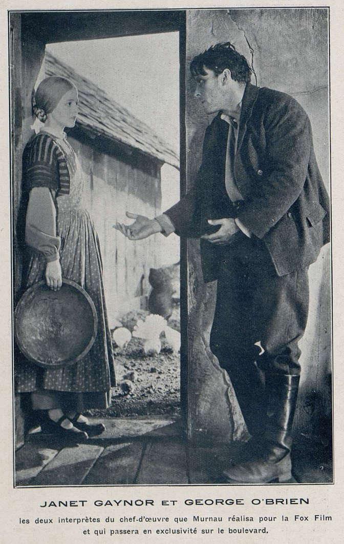 Janet Gaynor et George o'Brien (Cinemagazine 1928)