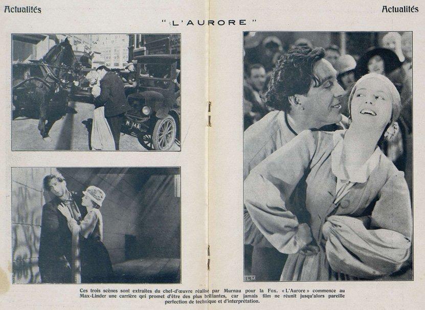 Photographies de L'Aurore (Cinémagazine 1928)