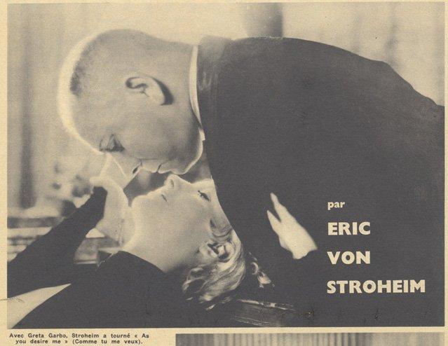 Eric von Stroheim et Greta Garbo (Pour Vous 1935)
