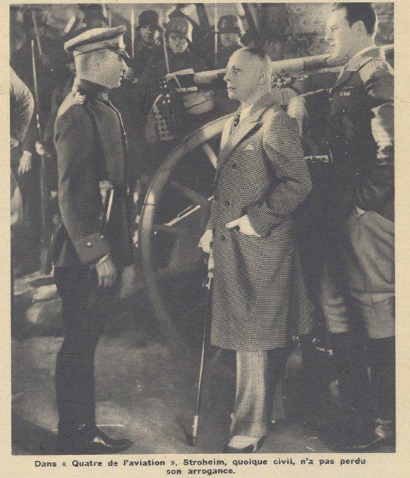 Eric von Stroheim dans Quatre de l'aviation (Pour Vous 1935)