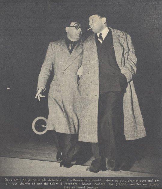 Henri Jeanson et Marcel Achard (Pour Vous 1939)