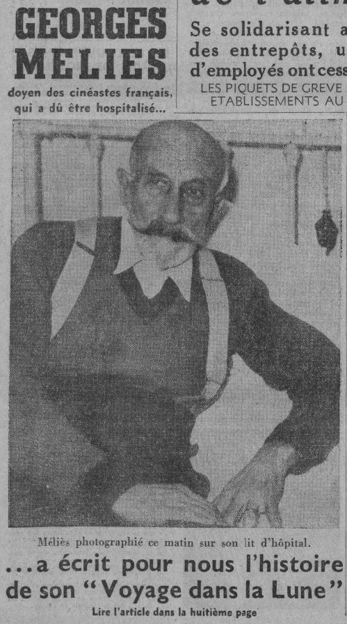 Georges Méliès dans Ce Soir 1937