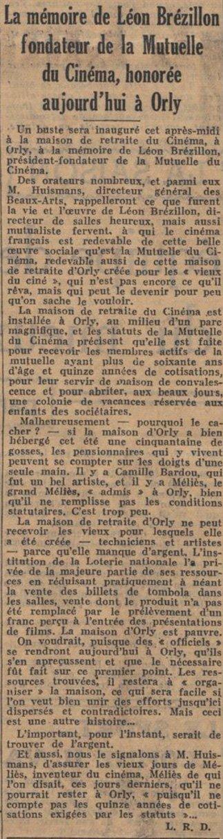 Ce Soir du 14 octobre 1937