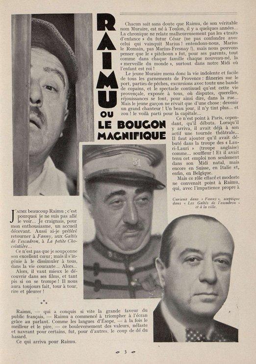 Raimu (Cinémagazine 1932)