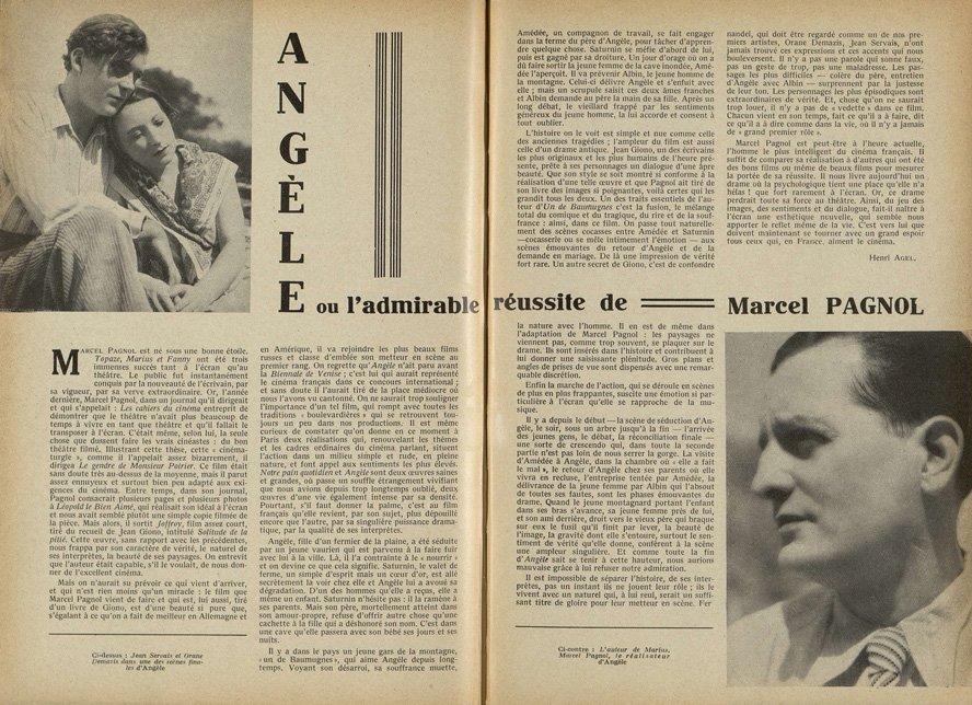 l'article de Cinémagazine (1934)