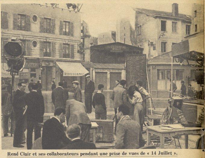 Tournage de 14 Juillet (Pour Vous 1932)