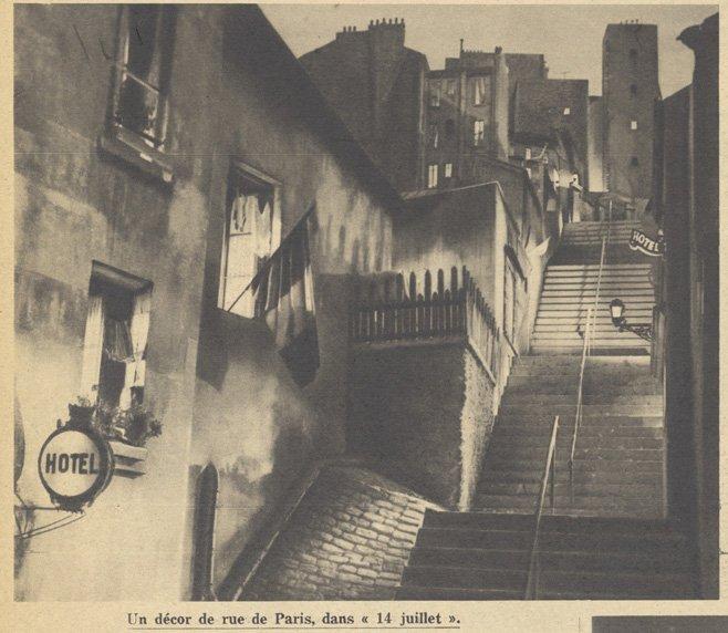 Un décor de 14 Juillet (Pour Vous 1932)