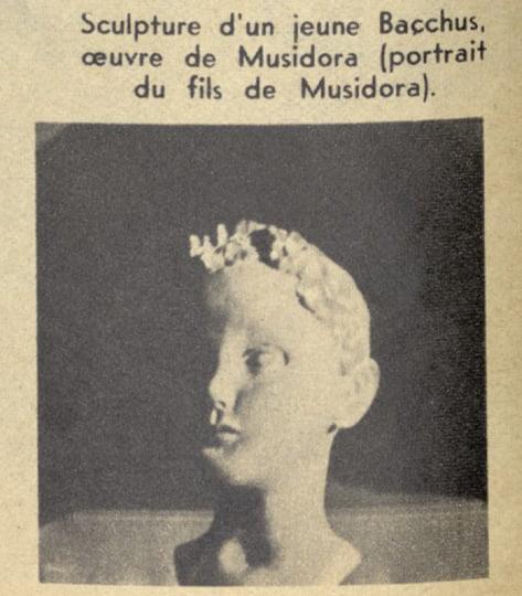 Sculpture de Musidora (Pour Vous 1938)