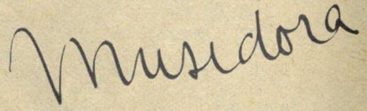 signature de Musidora (Pour Vous 1938)