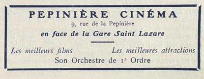 Le Pépinière Cinéma où eu lieu la conférence d'Emile Cohl