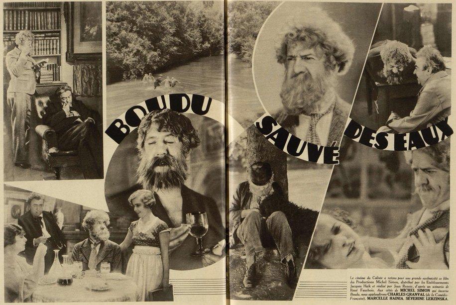 Boudu sauvé des eaux dans Cinémagazine (1932)