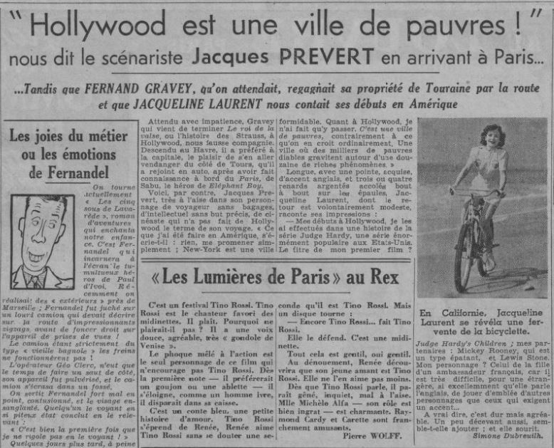 Paris Soir du 13.10.1938