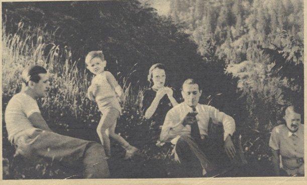 Tino Rossie, Charles Pélissier et leurs familles (Pour Vous 1936)