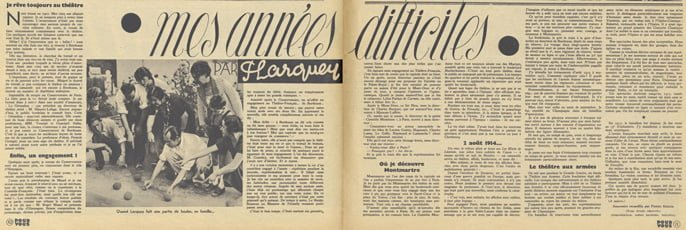 Première partie de Mes Années Difficiles par Pierre Larquey (Pour Vous 1937)
