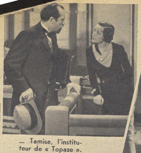 Pierre Larquey dans Topaze (Pour Vous 1937)