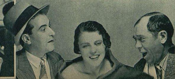Berval, Ghislaine Bru et Larquey dans Justin de Marseille (Cinémagazine 18 avril 1935)