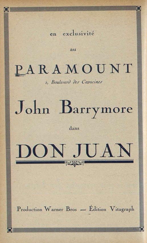 Le premier film distribué au Paramount (Cinémagazine 02.12.27)