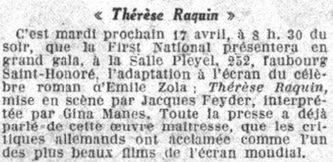 Le Petit Parisien daté du 13 avril 1928