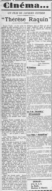 L'Humanité daté du 30 septembre 1928