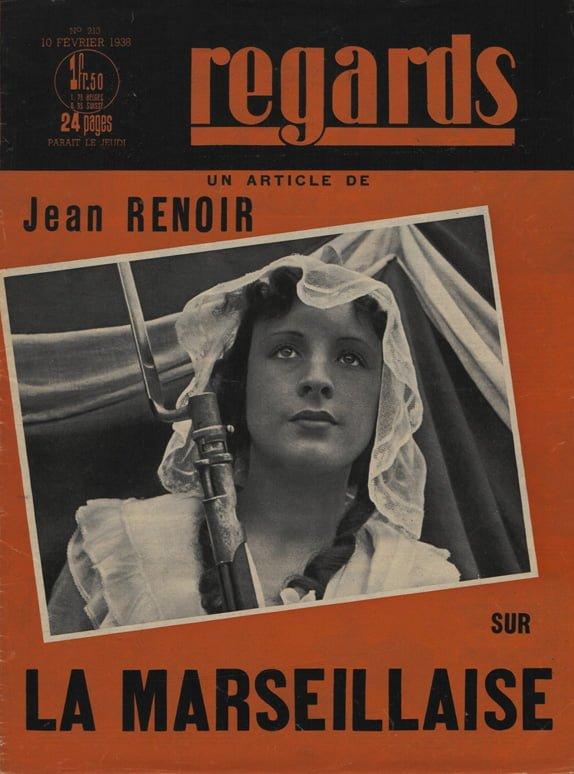 La couverture de Regards consacrée à La Marseillaise de Jean Renoir (1938)