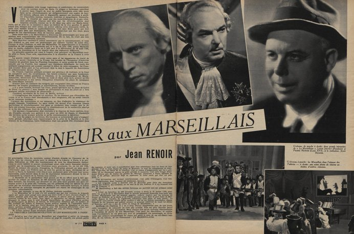 La Marseillaise par Jean Renoir (Regards 1938.02.10)