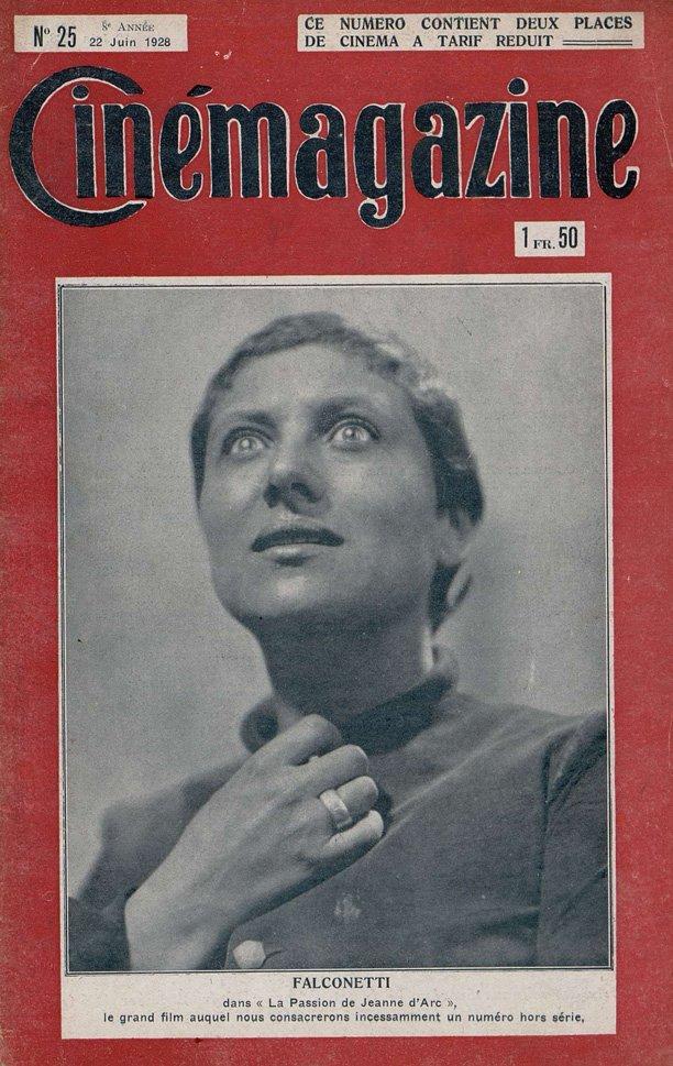 Falconetti dans Cinémagazine du 22 juin 1928