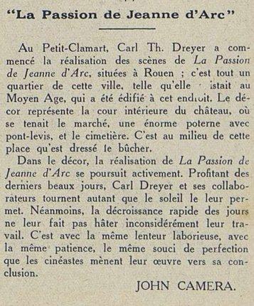 Cinémagazine du 04 novembre 1927